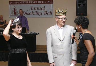 Photo of 2010 Ball King and Queen with Velda Jones-Potter